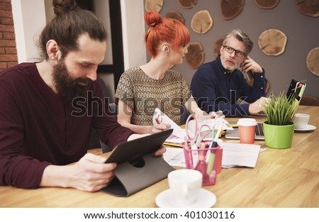 Group of people working at the office  - stock photo