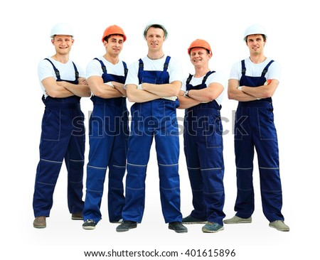 Group of professional industrial workers