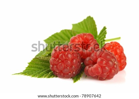 Group of raspberries