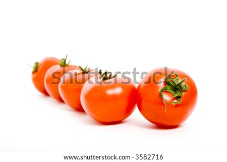 Group of red fresh tomatoes - stock photo
