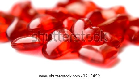 Group of red hearts