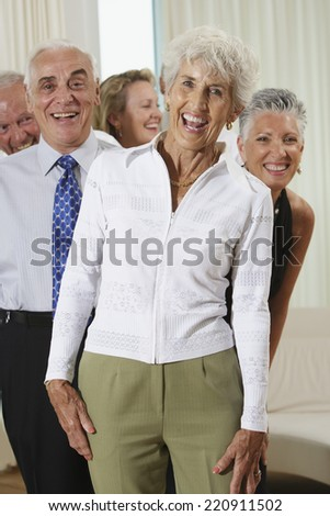 Group of seniors at party - stock photo