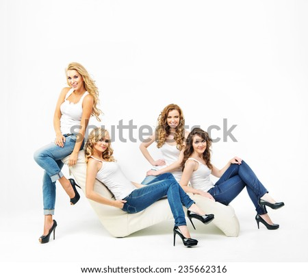 Group of sexy female friends