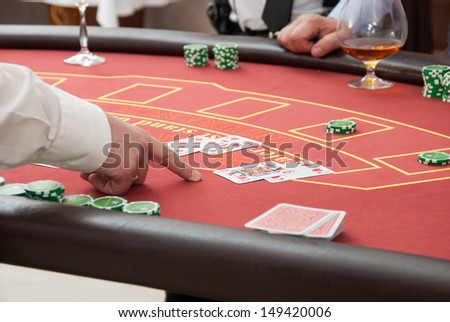 group of sinister poker players - stock photo