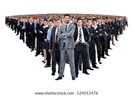 Group of smiling business people. Businessman and woman team.