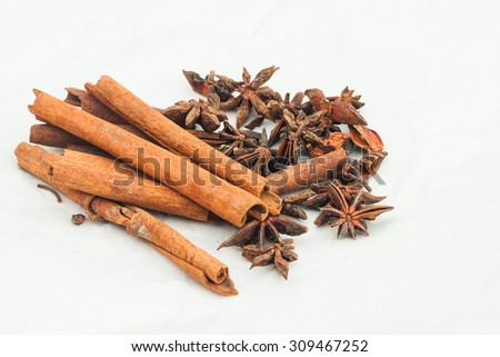 Group of spice Anrise and Cinnamon for use in kitchen.jpg