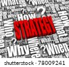 Group of strategy related 3D words. Part of a series. - stock photo
