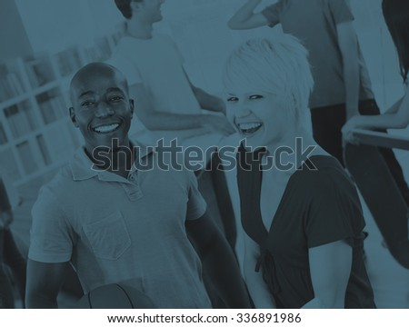 Group of Student in University Smiling Concept - stock photo