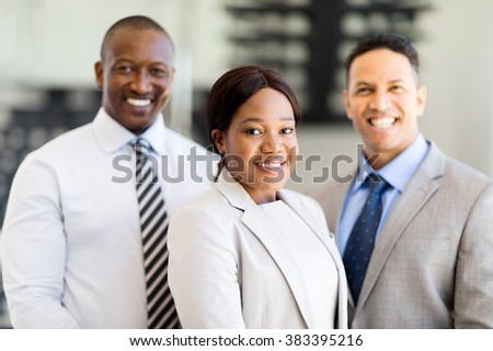 group of successful multiracial business team - stock photo
