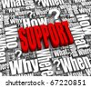 Group of support related 3D words. Part of a series. - stock photo