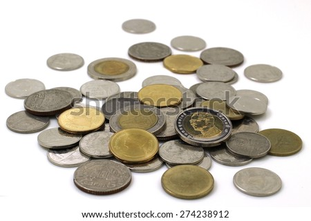 Group of Thai Coin - stock photo