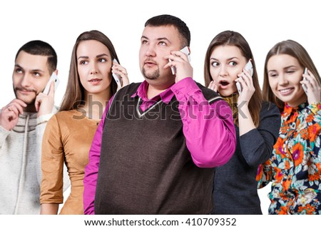 Group of thoughtful people - stock photo