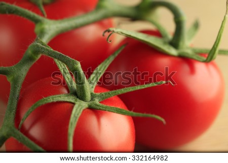 group of tomatoes close up