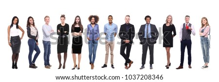 Group of twelve different people