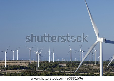 group of windmills for electric power generation alternative