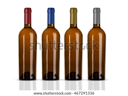 Group Of Wine Bottle