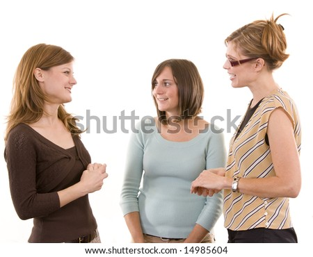 Group of woman talking. - stock photo