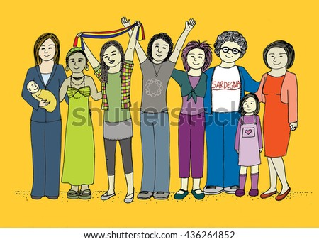 Group of women celebrating success