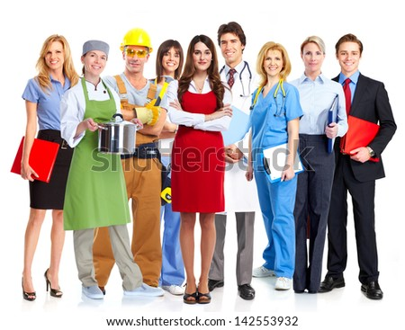 Group of workers. Business people team. - stock photo