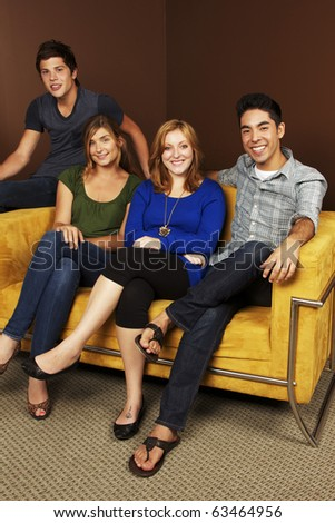 Group of Young Adults - stock photo