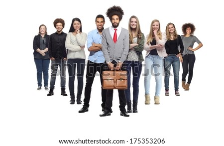 Group of young business people - stock photo