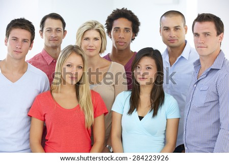 Group Of Young Business People In Casual Dress - stock photo