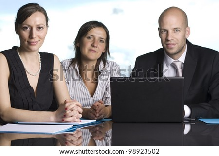 Group of young entrepreneurs - stock photo