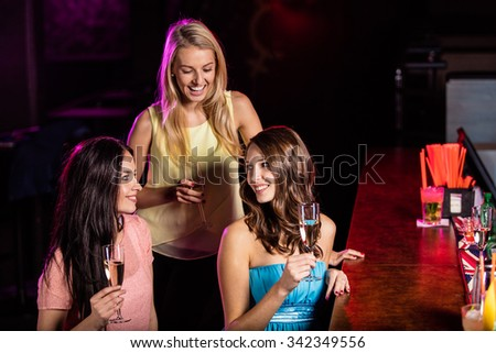 Group of young girls having party celebration.