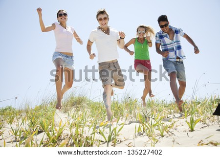 group of young people - stock photo