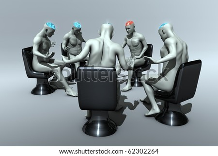 Group Psychotherapy - relationship here and now. - stock photo