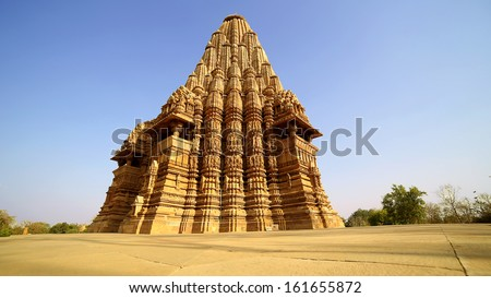 Group Sex Figures in Kama Sutra Temples in India - stock photo