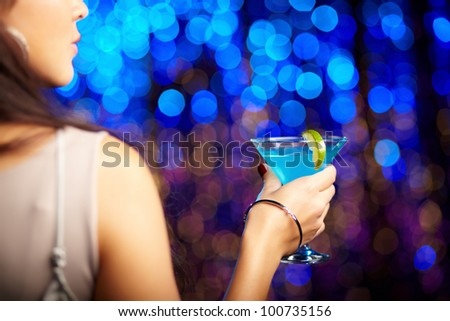 Group shot of young women celebrating their friend'??s forthcoming marriage, hen party - stock photo
