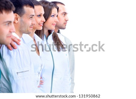 group young people - stock photo