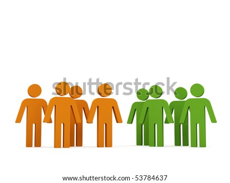 Groups of people. - stock photo