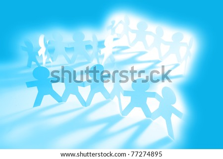 Groups of people holding hands