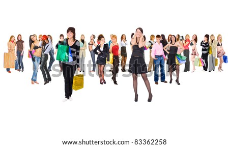 Groups People Business - stock photo