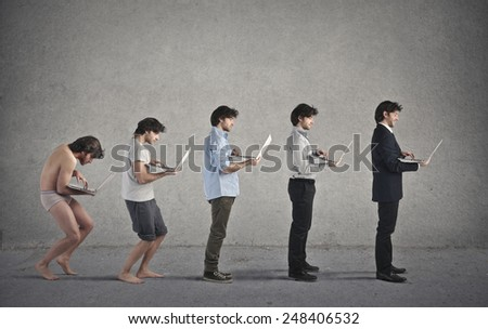 Growing older  - stock photo