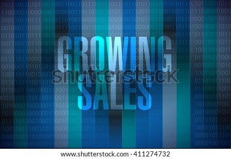 growing sales binary background sign concept illustration design graphic