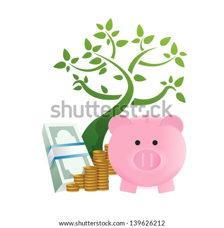 growing savings concept illustration design over a white background