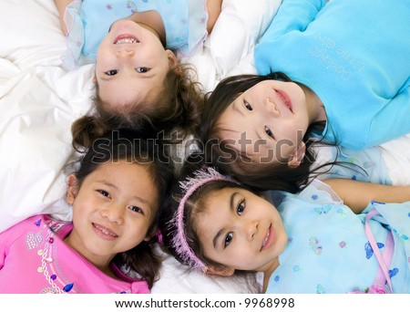 Growing up and being kids. Fun, exploration, discovery, youth - stock photo