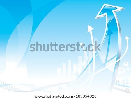 Growth Arrow design, raster. - stock photo