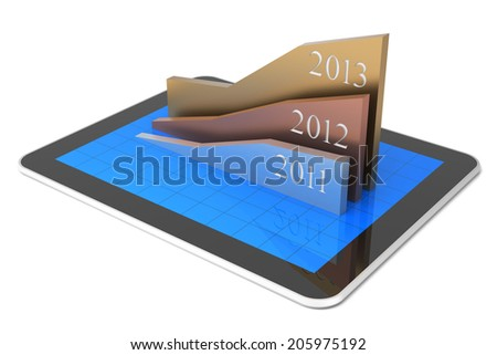 Growth Chart and Tablet PC - stock photo