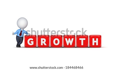 Growth concept.Isolated on white.3d rendered.