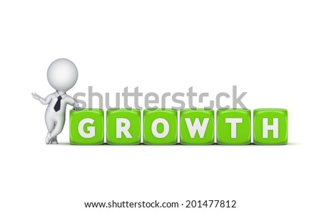 Growth concept.Isolated on white.3d rendered. - stock photo