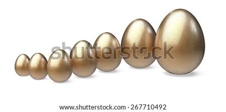 Growth. 3D. Egg Chart - stock photo
