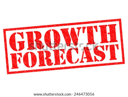 GROWTH FORECAST red Rubber Stamp over a white background. - stock photo