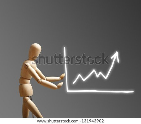 Growth Strategy Concept with Graph - stock photo