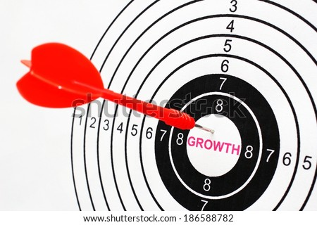 Growth target - stock photo