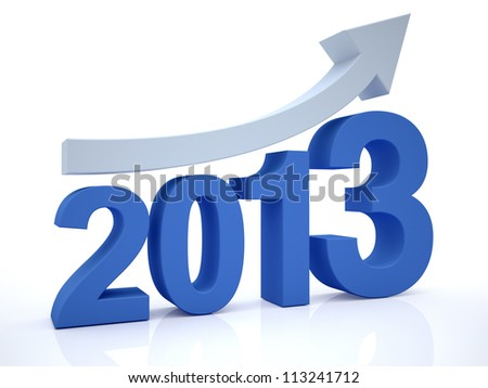Growth 2012 With Arrow - stock photo