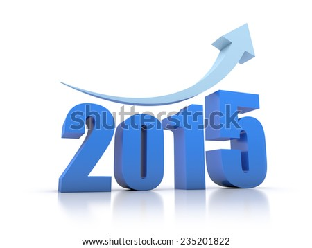 Growth 2015 With Arrow - stock photo